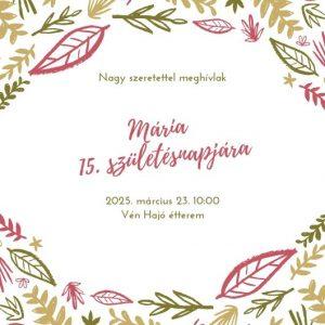 Születésnapi meghívó