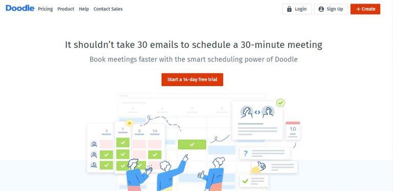 e-meghívó-küldés-Doodle-főoldal