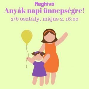 Meghívó anyák napi ünnepségre